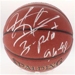 "Dennis Rodman Signed Basketball Inscribed ""3 Peat 96-98"" (Schwartz COA)"