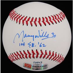 "Maury Wills Signed Baseball Inscribed ""104 S.B. '62"" (PA COA)"