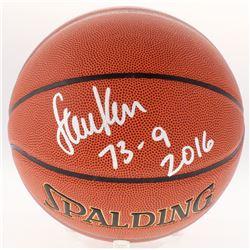 "Steve Kerr Signed Basketball Inscribed ""73-9 2016"" (Schwartz COA)"
