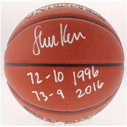 "Steve Kerr Signed Basketball Inscribed ""72-10 1996""  ""73-9 2016"" (Schwartz COA)"