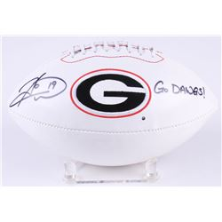 "Hines Ward Signed Georgia Bulldogs Logo Football Inscribed ""Go Dawgs!"" (Radtke COA)"