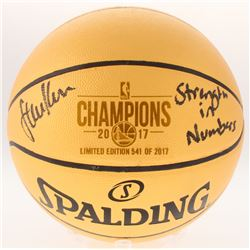 "Steve Kerr Signed LE 2017 Champions Basketball Inscribed ""Strength in Numbers"" (Schwartz COA)"