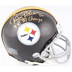 "Rocky Bleier Signed Steelers Mini Helmet Inscribed ""4x SB Champs"" (Schwartz COA)"