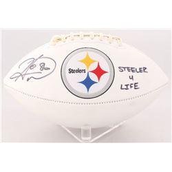 "Hines Ward Signed Steelers Logo Football Inscribed ""Steeler 4 Life"" (Radtke COA)"