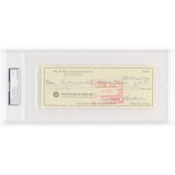 Vince Lombardi Signed 1968 Personal Bank Check (PSA Encapsulated)