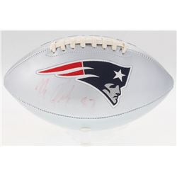 Rob Gronkowski Signed Patriots Logo Football (Radtke COA)