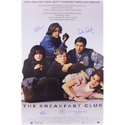 """""""The Breakfast Club"""" 24x36 Poster Cast Signed by (4) with Judd Nelson, Molly Ringwald, Emilio Esteve"""