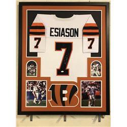 Boomer Esiason Signed Bengals 34x42 Custom Framed Jersey (JSA COA)