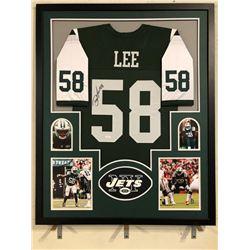 Darron Lee Signed Jets 34x42 Custom Framed Jersey (JSA COA)