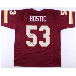 "Jeff Bostic Signed Redskins Jersey Inscribed ""3x SB Champ"" (JSA COA)"