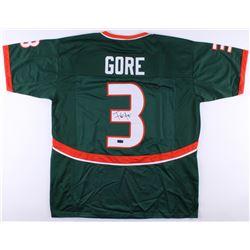 Frank Gore Signed Hurricanes Green Jersey (Radtke COA)