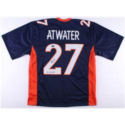 "Steve Atwater Signed Broncos Jersey Inscribed ""2x SB Champs"" (Radtke COA)"