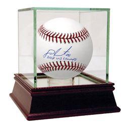 """J.D. Martinez Signed OML Baseball Inscribed """"2018 WS Champs"""" (Steiner COA)"""