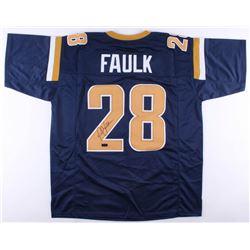 Marshall Faulk Signed Rams Jersey (Radtke COA)