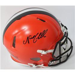 Nick Chubb Signed Browns Full-Size Authentic On-Field Speed Helmet (JSA COA)