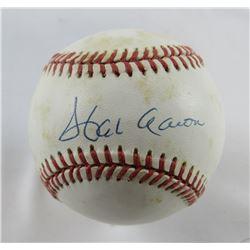 Hank Aaron Signed ONL Baseball (PSA Hologram)