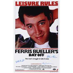 "Matthew Broderick, Mia Sara  Alan Ruck Signed ""Ferris Bueller's Day Off"" 11x17 Photo (Schwartz COA)"