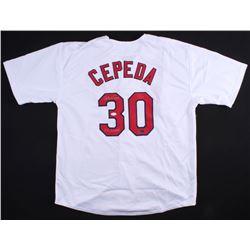 "Orlando Cepeda Signed Cardinals Jersey Inscribed ""67 Champs"" (JSA COA  Radtke COA)"