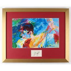 Carl Yastrzemski Signed Leroy Neiman 17x21 Custom Framed Cut Display (JSA COA)