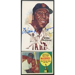 Willie McCovey Signed Giants Post Card (JSA Hologram)  (1) 1960 Topps #316 Willie McCovey ASR RC