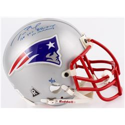 """Tom Brady Signed LE Patriots Mini Helmet Inscribed """"Do You Believe In Miracles?"""" (TriStar Hologram)"""