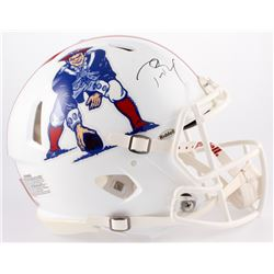 Tom Brady Signed Patriots Throwback Full-Size Authentic On-Field Speed Helmet (Steiner COA  TriStar