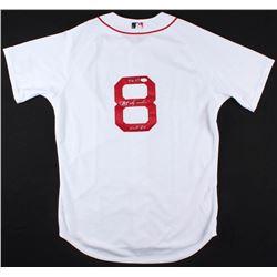 """Carl Yastrzemski Signed Red Sox Jersey Inscribed """"TC 67""""  """"HOF 89""""(JSA COA)"""