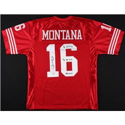 "Joe Montana Signed 49ers Jersey Inscribed ""4x SB Champ"", ""3x SB MVP"",  ""HOF 2000"" (JSA LOA)"