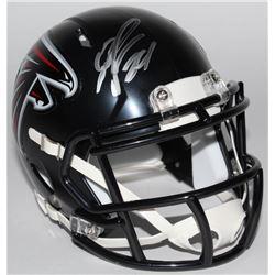 Devonta Freeman Signed Falcons Mini-Helmet (Radtke COA)