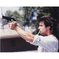 """Mel Gibson Signed """"Lethal Weapon"""" 11x14 Photo (Beckett COA)"""
