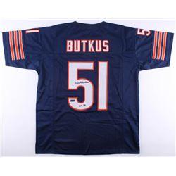 "Dick Butkus Signed Bears Jersey Inscribed ""HOF 79"" (Radtke COA)"