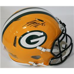 Jordy Nelson Signed Packers Authentic On-Field Full-Size Speed Helmet (Beckett COA)