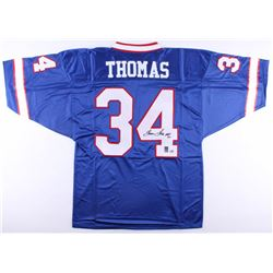 "Thurman Thomas Signed Bills Jersey Inscribed ""HOF 07"" (Radtke COA  Thomas Hologram)"