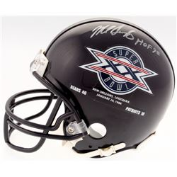 "Mike Singletary Signed Bears Super Bowl XX Mini Helmet Inscribed ""HOF 98"" (Schwartz COA)"