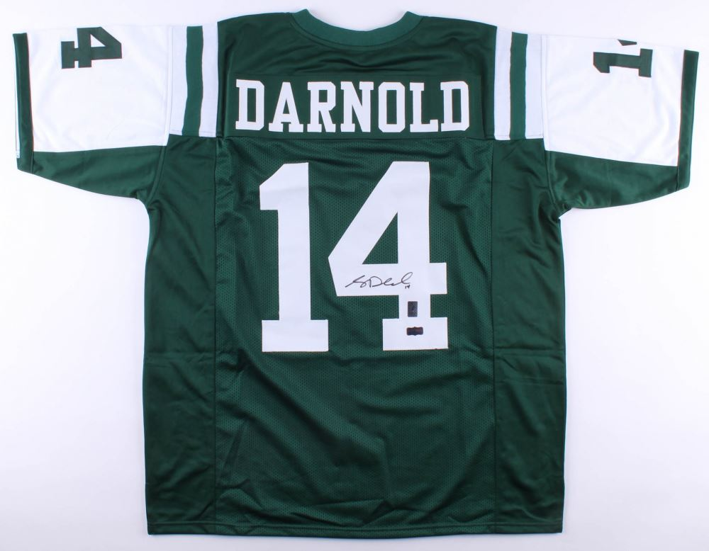 uk availability b266d 9ddcf Sam Darnold Signed Jets Jersey (Radtke COA and Darnold ...