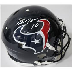 DeAndre Hopkins Signed Texans Authentic On-Field Full-Size Speed Helmet (JSA COA)