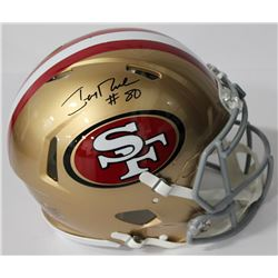 Jerry Rice Signed 49ers Authentic On-Field Full-Size Speed Helmet (Beckett COA)