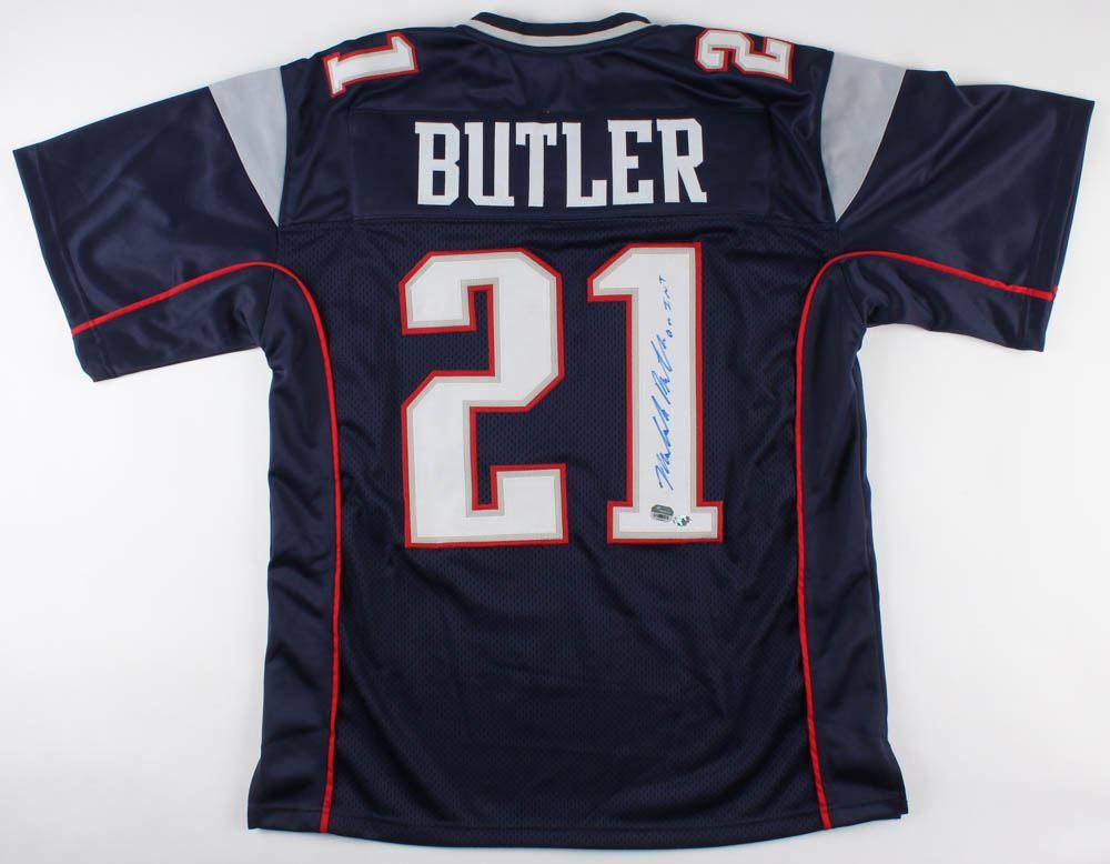 hot sale online 31069 a4e2f Malcolm Butler Signed Patriots Jersey (Fanatics Hologram ...