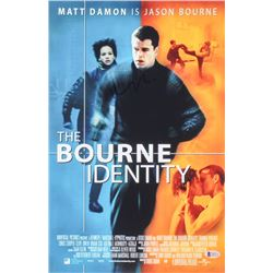 "Matt Damon Signed ""The Bourne Identity"" 12x18 Photo (Beckett COA)"