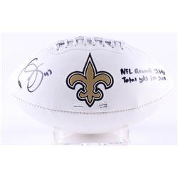 """Darren Sproles Signed Saints Logo Football Inscribed """"NFL Record 2696 Total YDS In 2011"""" (Radtke  Sp"""