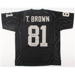 """Tim Brown Signed Raiders Jersey Inscribed """"HOF 2015"""" (Brown Hologram)"""