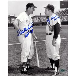 Yogi Berra  Stan Musial Signed 8x10 Photo with (2) Hall of Fame Inscriptions (Steiner COA)