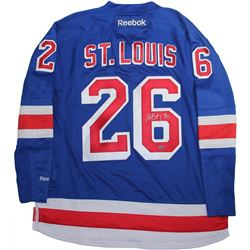 Martin St. Louis Signed Rangers Captains Jersey (Steiner COA)