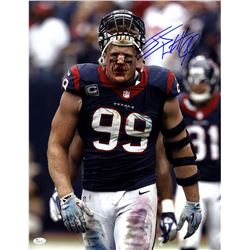J.J. Watt Signed Texans 16x20 Photo (JSA COA)