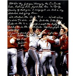 Lou Piniella Signed Reds 16x20 Photo with Extensive Inscription (Steiner COA)