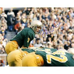 """Joe Montana Signed Notre Dame Fighting Irish 16x20 Photo Inscribed """"Go Irish"""" (Steiner COA)"""