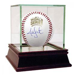 Jon Lester Signed 2016 World Series Logo Baseball (Steiner COA)