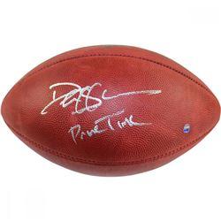 """Deion Sanders Signed NFL """"The Duke"""" Football Inscribed """"Primetime"""" (Steiner COA)"""