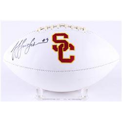 JuJu Smith-Schuster Signed USC Trojans Logo Football (JSA COA)