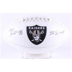 "Fred Biletnikoff Signed Raiders Logo Football Inscribed ""SB XI MVP"" (JSA Hologram)"
